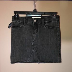 Abercrombie kids black jean skirt